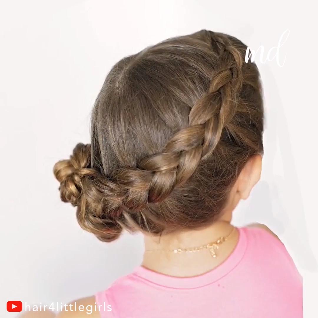 Hairstyle Tutorial Frisurflechten Hairstyle Tutorial In 2020 Geflochtene Frisuren Kinderfrisuren Haarschnitt Kurz
