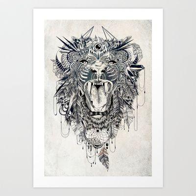 Lion Art Print by Feline Zegers - $18.00