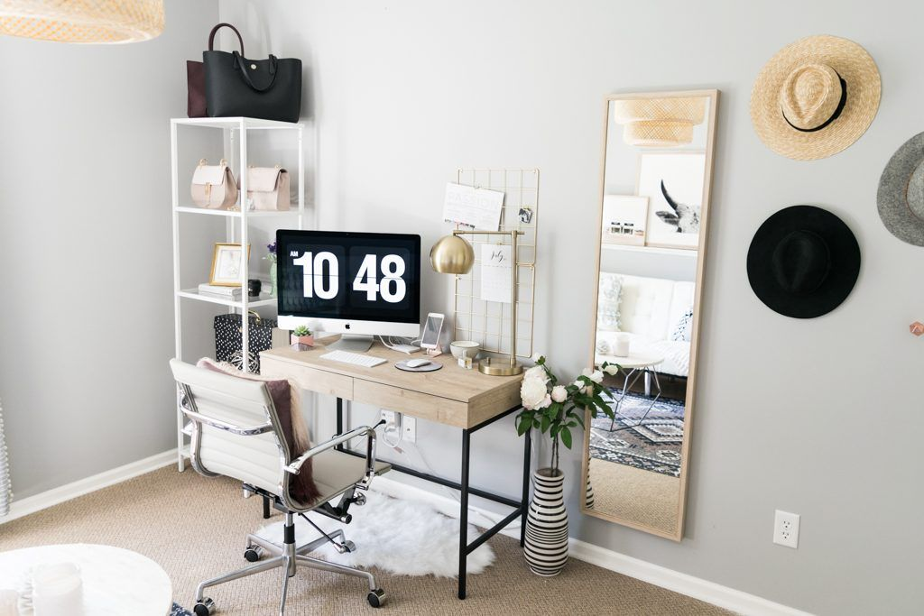 Blog Office Reveal On A Budget Home Office Design Female
