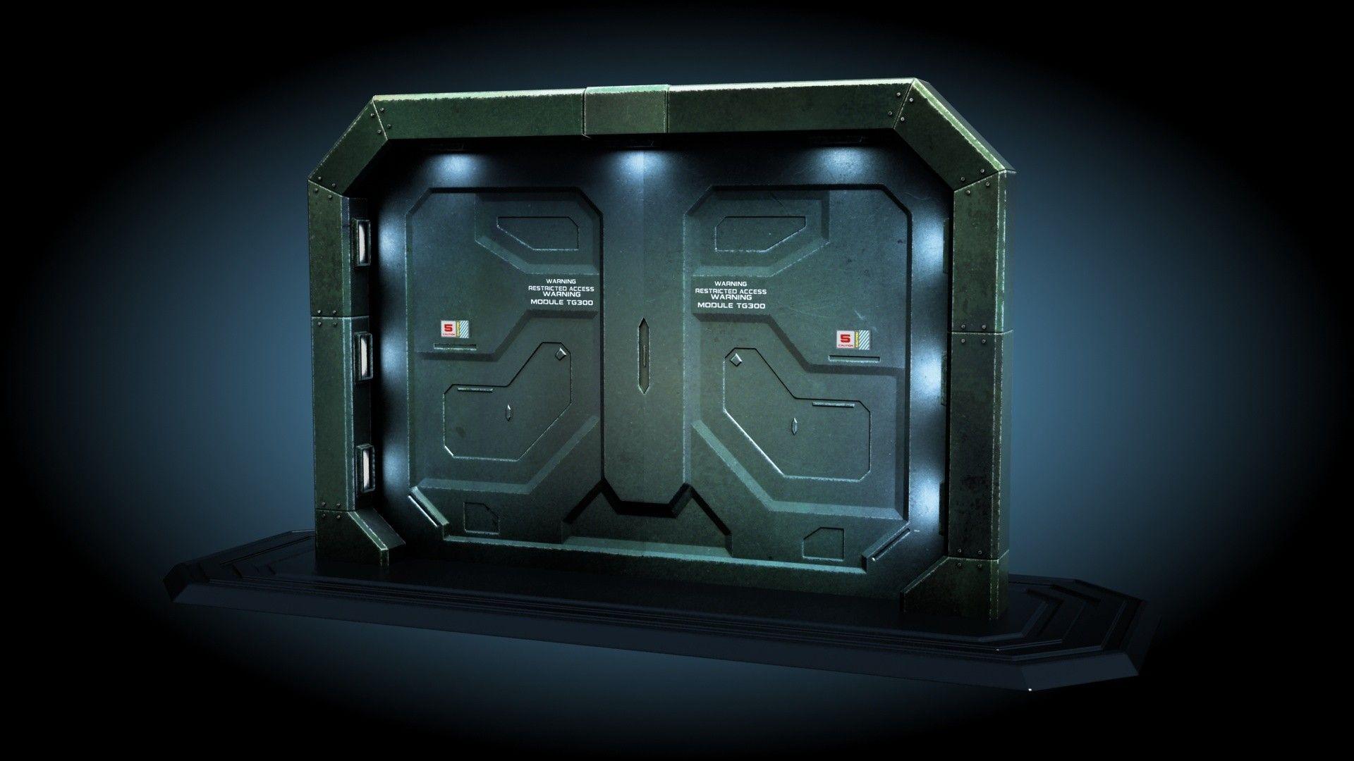 3ds Max Sci Fi Gate Door Sci Fi Spaceship 3ds Max