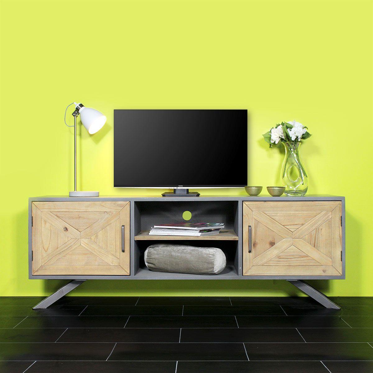 meuble tv original pinterest deco industrielle meuble tv et industriel. Black Bedroom Furniture Sets. Home Design Ideas