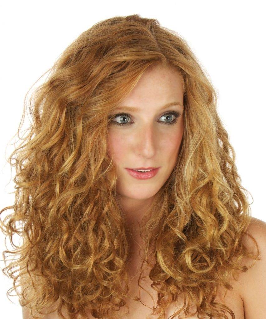 Long Curly Permed Hairstyle Hairstyles Curlformers Perm Creates Beach