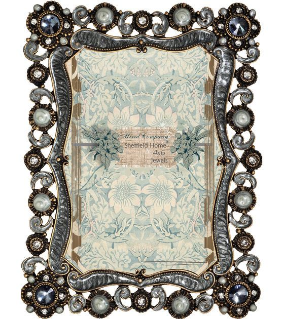 Mixed Company 4x6 Frame with Gray Round Jewels: Table