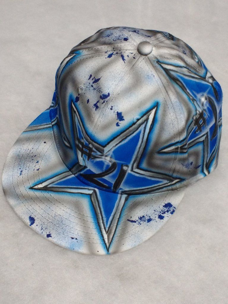 airbrushed dallas cowboys ottoflexfit hat custom airbrushed