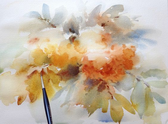 Watercolors by Maria Stezhko (Акварели Марии Стежко): Wet-on-wet watercolor tutorial: