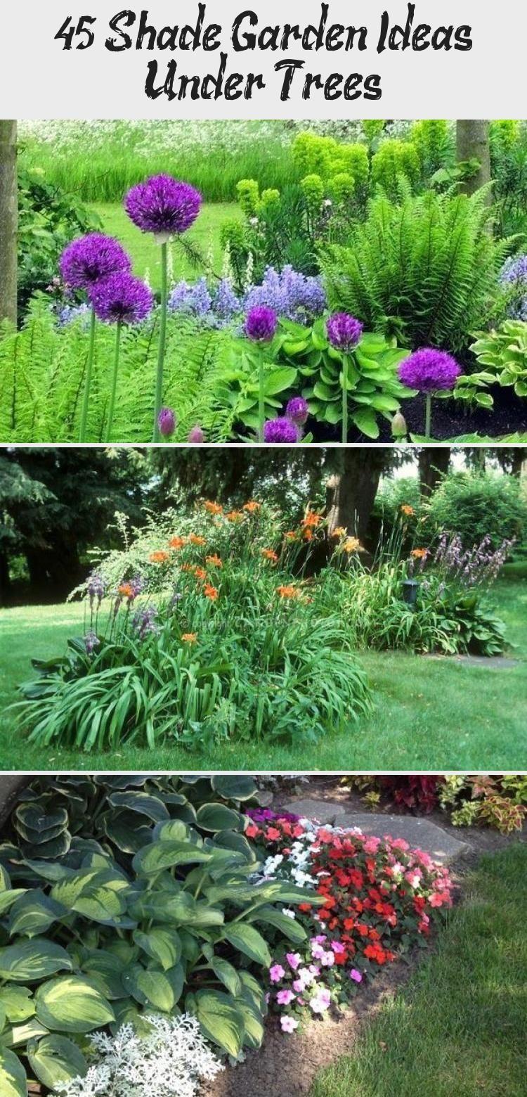 45 Shade Garden Ideas Under Trees   Garden ideas under ...