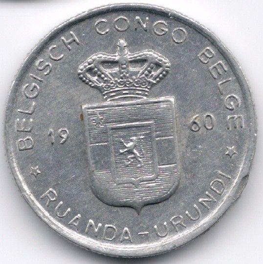 Belgian Congo + Ruandi Urundi 1 Franc 1960 op eBid België