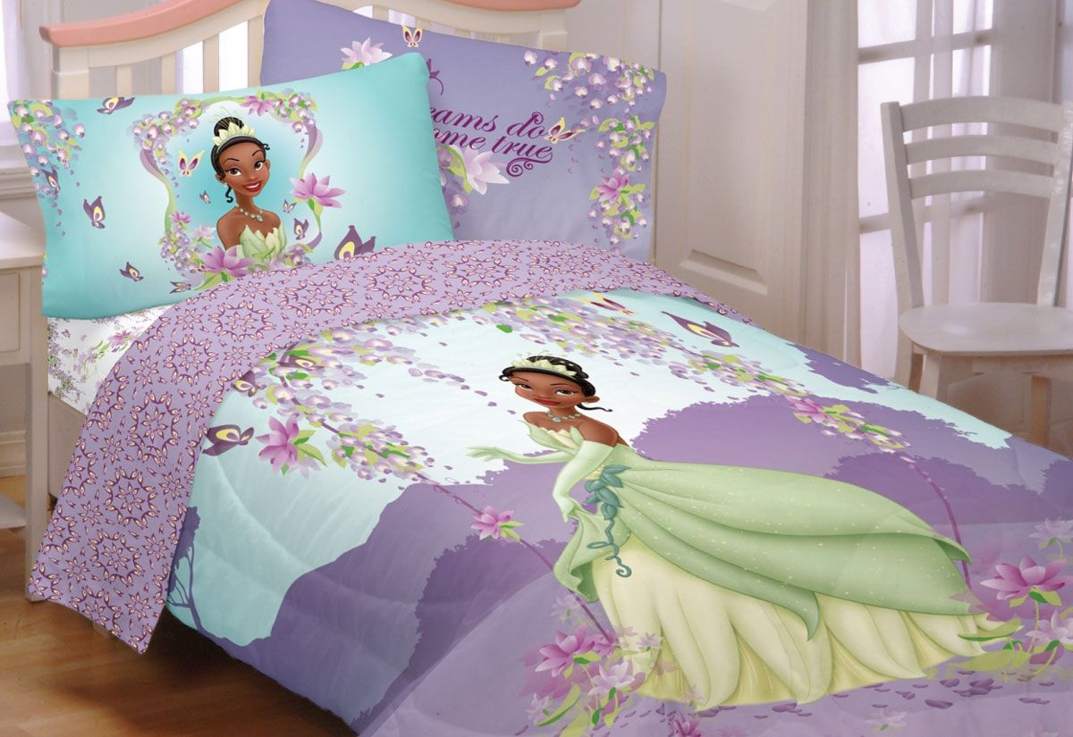 Princess Tiana Bedding Full Size Aniyah Bedroom Accessories And
