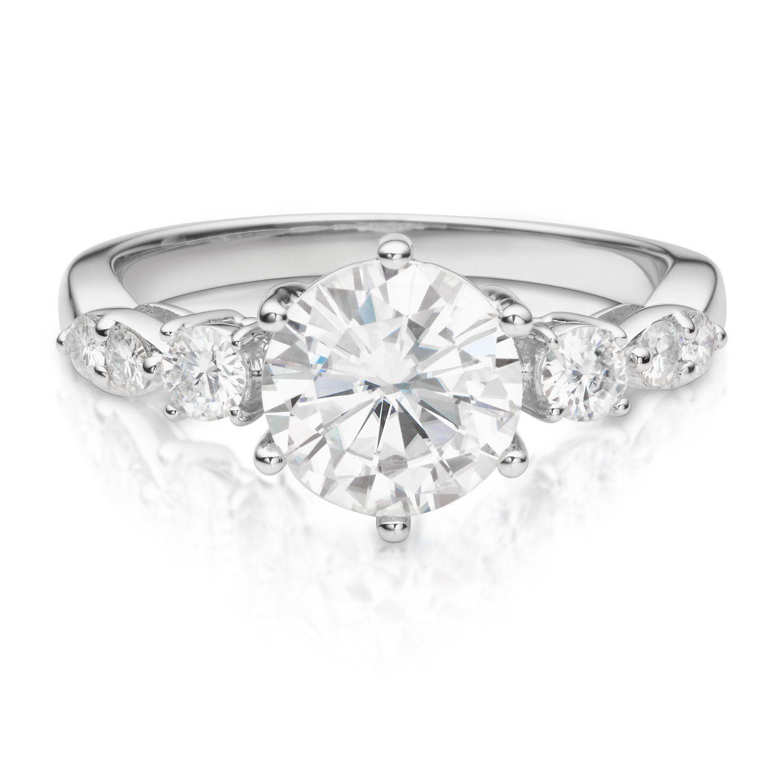 Forever Brilliant Round 8.0mm Moissanite Engagement Ring
