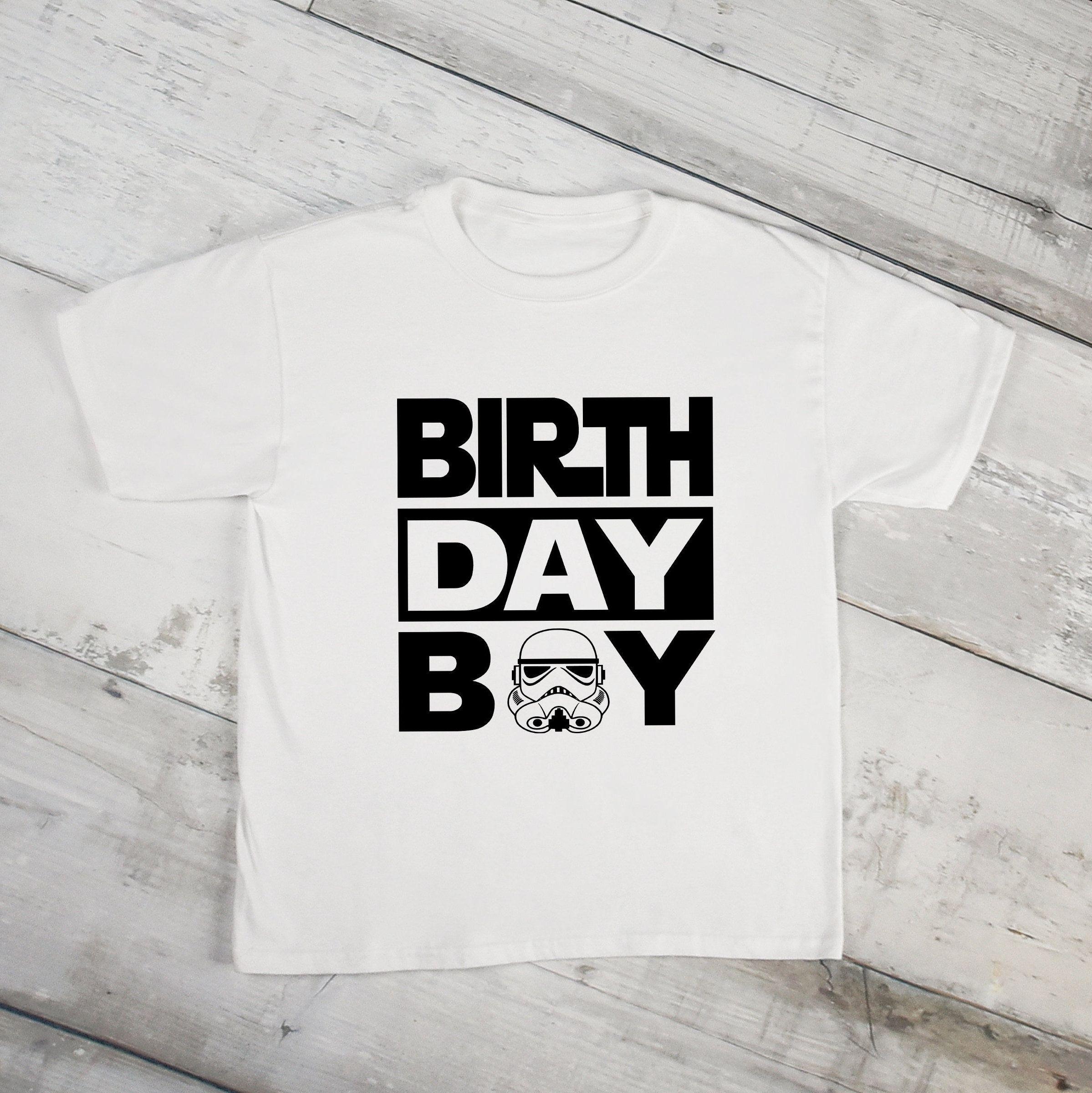 Stormtrooper Vader Birthday Boy Shirt Disney Family Shirts Star Wars Boys By