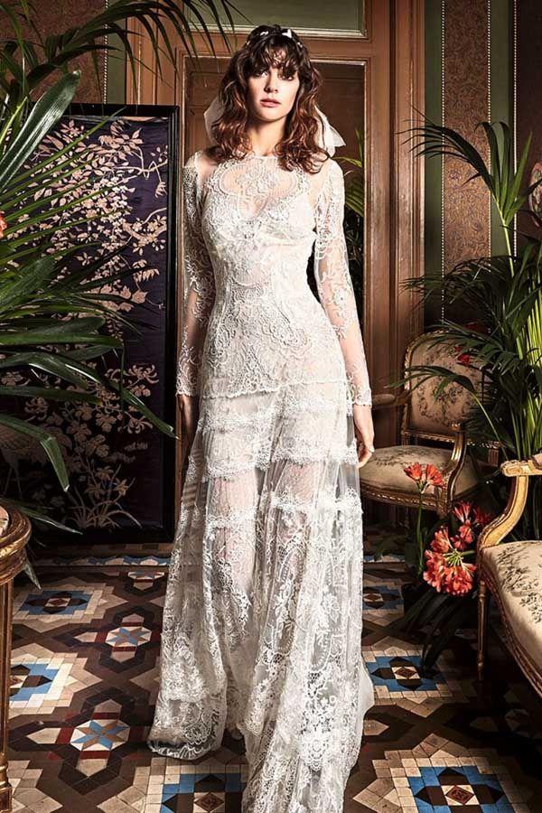 vestido de novia de yolancris en blanco de novia. | yolancris en