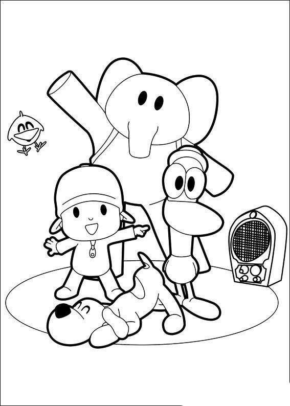 Dibujos de Pocoyó para colorear y pintar. Imprimir dibujos de