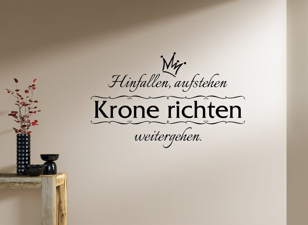 wandtattoo krone richten reuniecollegenoetsele. Black Bedroom Furniture Sets. Home Design Ideas