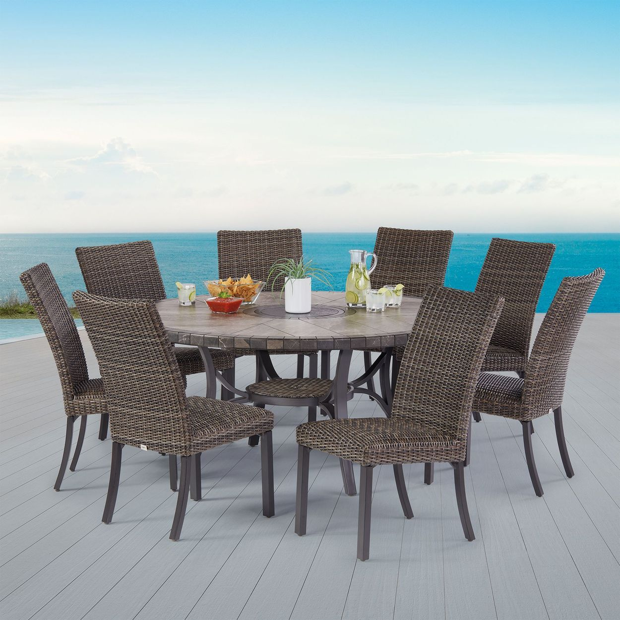 Agio 9piece springdale woven dining set in 2020 dining