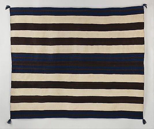 Navajo Wearing Blanket (1840-60). Wool. via the Met, NYC