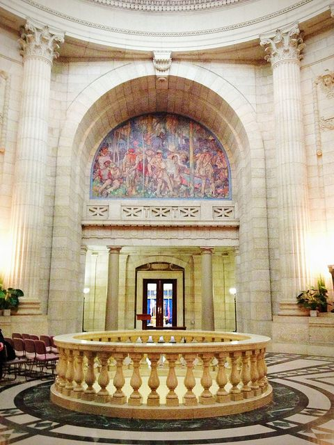 Blog post - Geeking Out Over Winnipeg's Hermetic Code Tour via savoirfaireabroad.com - Manitoba Legislature by Pamela MacNaughtan, via Flickr #GILoveManitoba