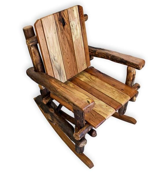 Awe Inspiring Log Rocking Chair Rustic Rocking Chair Reclaimed Wood Gmtry Best Dining Table And Chair Ideas Images Gmtryco