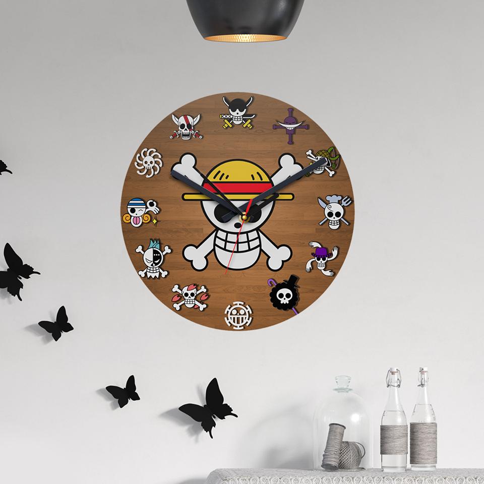 One Piece Wall Clock Anime Decor One Piece Anime One Piece