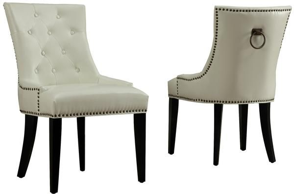 uptown cream leather dining chair modern dining chair by tov furniture at contemporary modern furniture - Uptown Modern Furniture Toronto