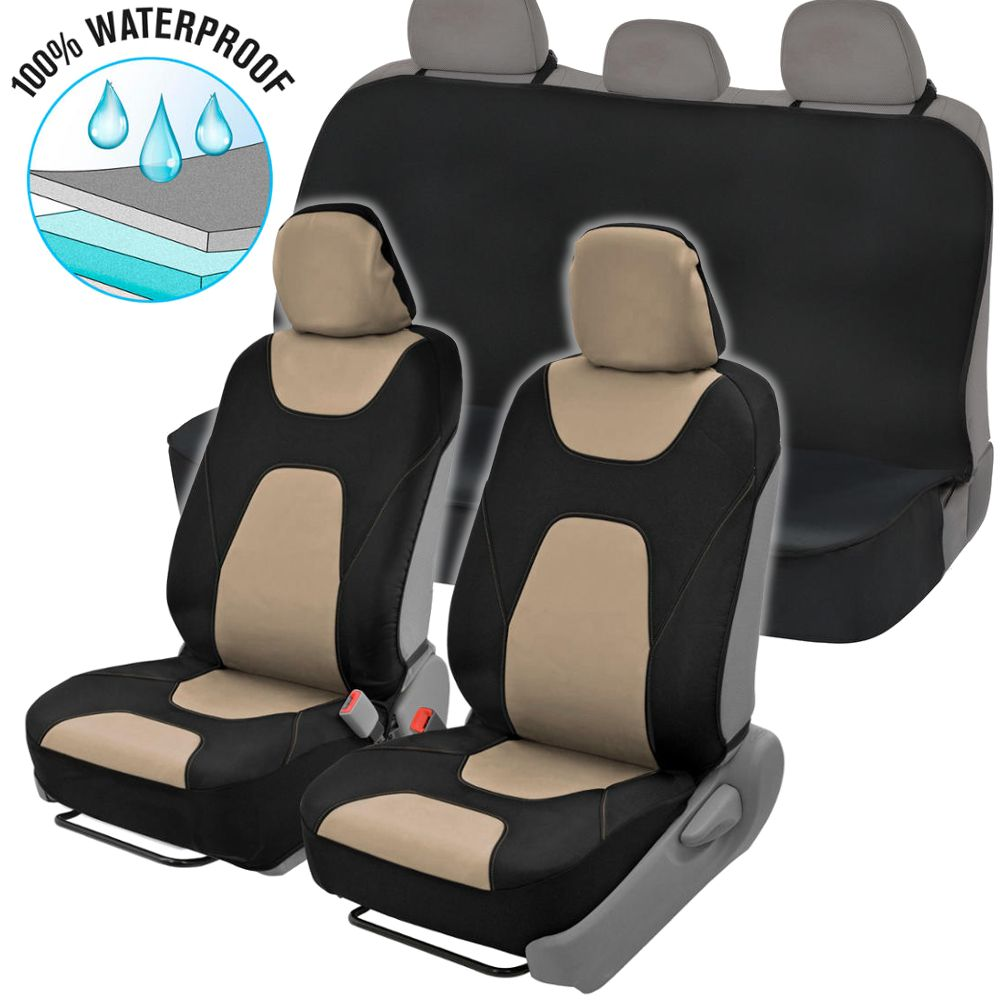 Neocloth Waterproof Car Seat Covers Protector Full Set W Back Bench Universal Fit Sidelss Heavy Duty Front Rear Full Set Walmart Com In 2020 Waterproof Car Seat Covers