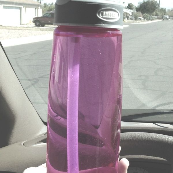 My favorite water bottle ever! Camelbak. Fill with water and add a couple drops of either lemon DoTerra essential oil or DoTerra slim and sassy essential oil. These oils help boost your metabolism and help you loose weight! I try to drink this everyday with my meals throughout the day and so far i am LOVING to out come!