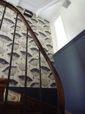 Renovation Cage D Escalier Villa Garches Wall Paper