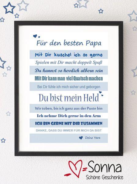 Für Den Besten Papa Pdf Zum Selberausdrucken Von Sonna
