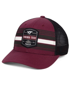 online store c2848 34078 ... italy top of the world virginia tech hokies branded trucker cap red  adjustable 723bc 63f15
