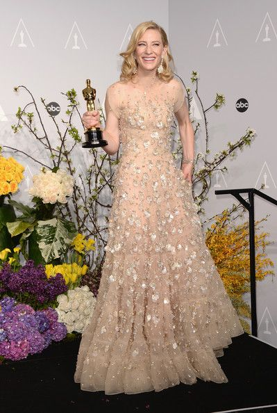"Actress Cate Blanchett, winner of Best Actress for ""Blue Jasmine, poses in the press room during the Oscars at Loews Hollywood Hotel on March 2, 2014 in Hollywood, California."