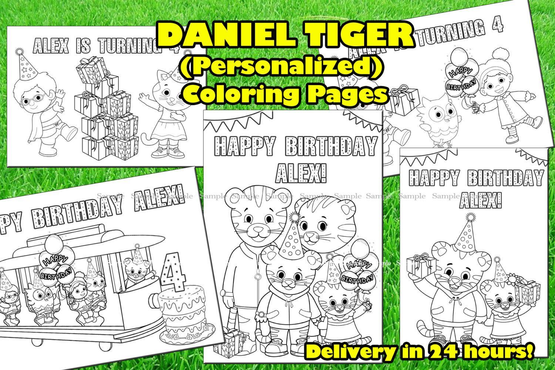 Daniel Tiger Personalized Coloring Pages | Surprise | Pinterest ...