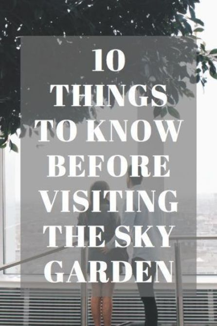 10 things to know about visiting the Sky Garden, London at 20 Fenchurch Street! This is one of the top things to do in London offering beautiful views over the city. It's a free thing to do in London too! #whatshotblog #skygarden #travellondon #uk #travelhacks