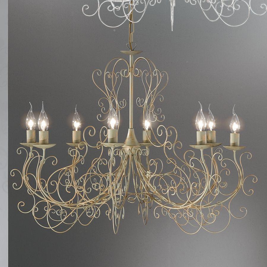Beeindruckend Kronleuchter 8 Flammig Ideen Von Palazzo - Metall - Grau/gold - 8-flammig