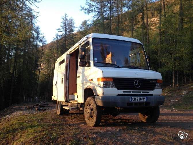 camping car mercedes 4x4 vario 814 da ka utilitaires hautes alpes camping. Black Bedroom Furniture Sets. Home Design Ideas