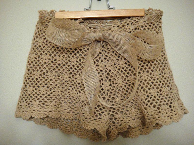 diy crochet shorts