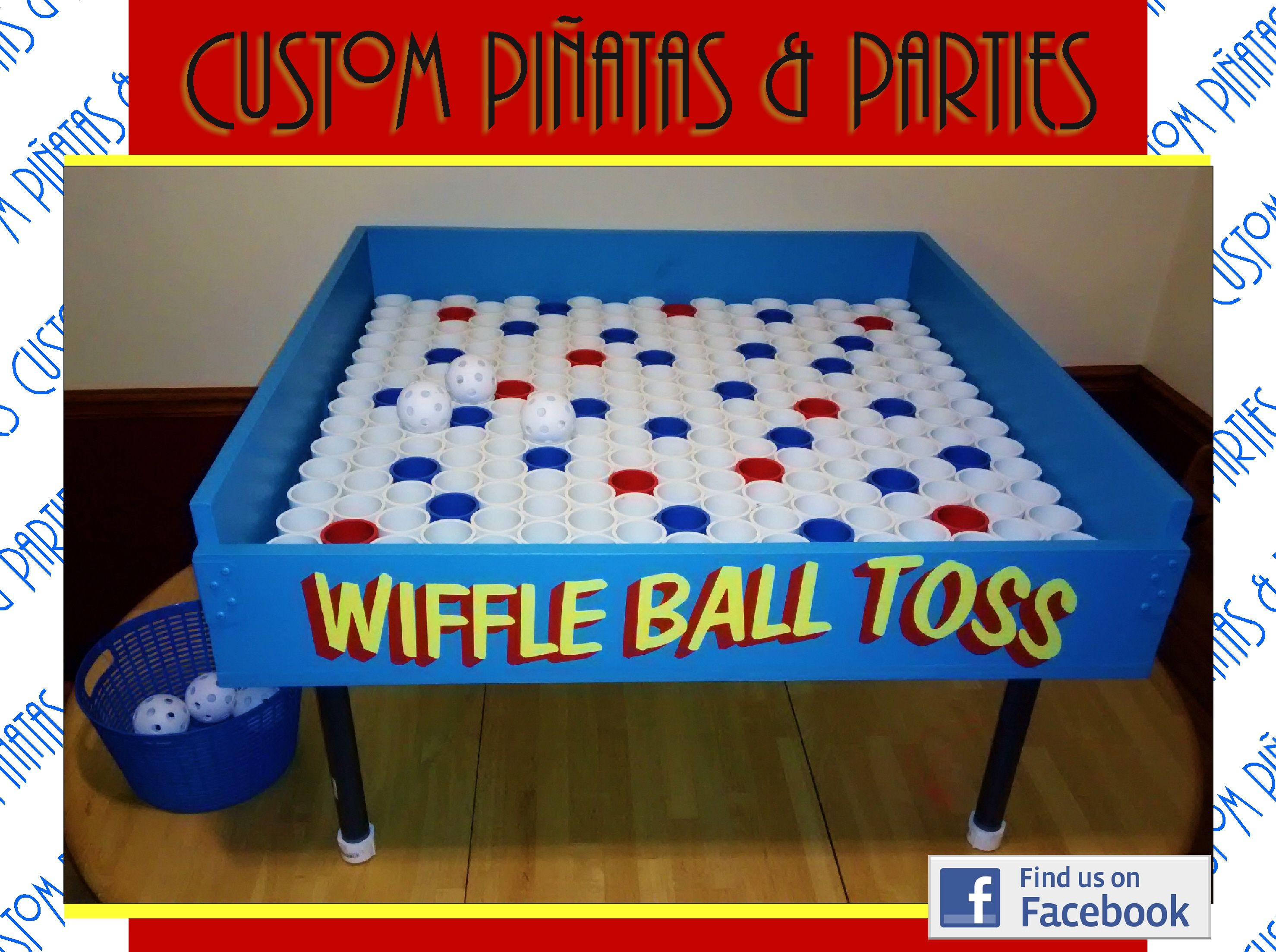 wiffle ball toss carnival style party game rental party game