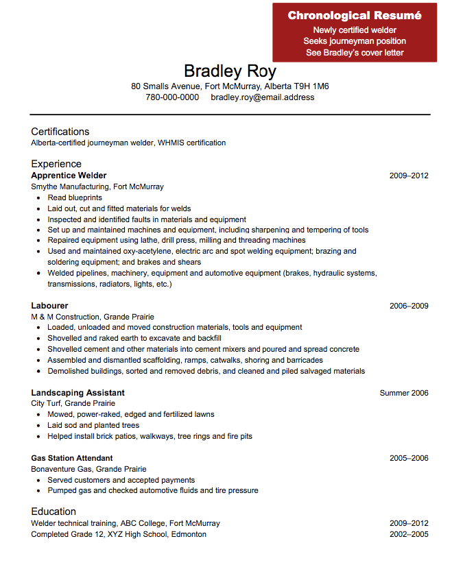 Welder Resume Welder Sample Resume  Httpexampleresumecvweldersample