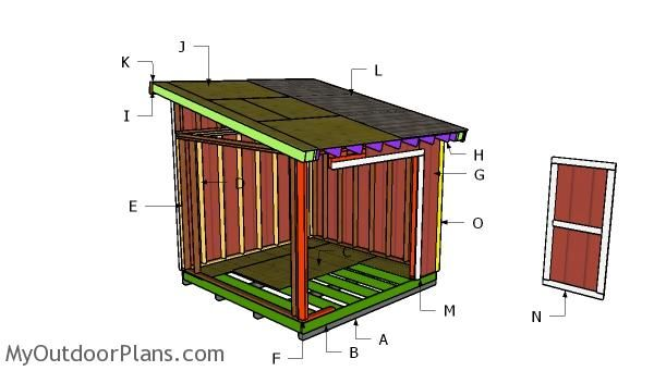Building A 10x10 Lean To Shed 10x10 Shed Plans Wood Shed Plans Lean To Shed