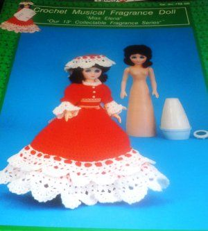 Air Freshener Doll Southern Bell Miss Elena Crochet Pattern #airfreshnerdolls