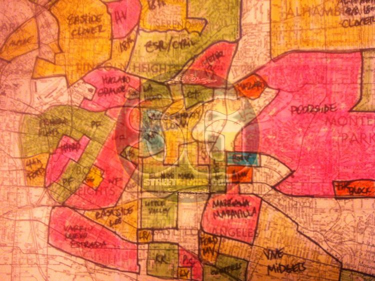 1978 Gang Territory Map Of East Los Angeles Area Streetgangs Com East Los Angeles Map Los Angeles Area