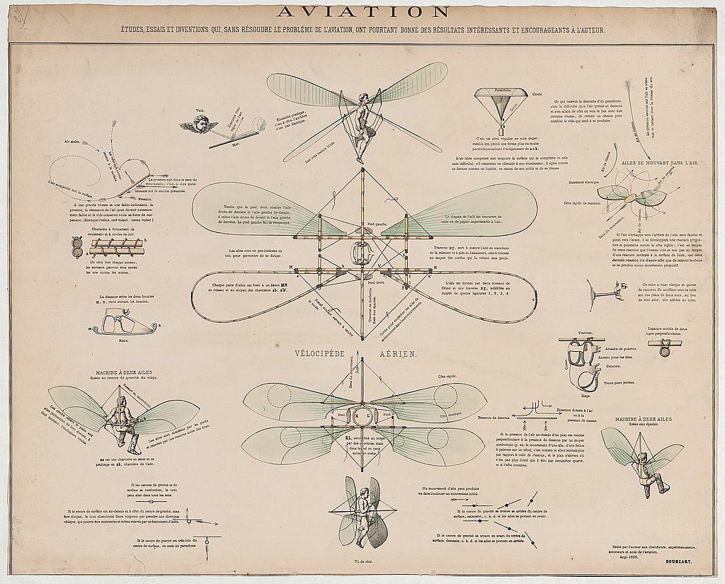 Como Dibujar La Maquina Voladora: Design Drawings For A Man-Powered Flying Machine [1866