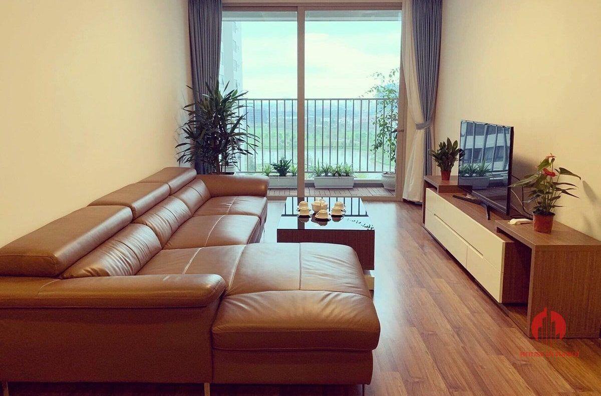 Park view 3BR apartment for rent near Korean Embassy Hanoi