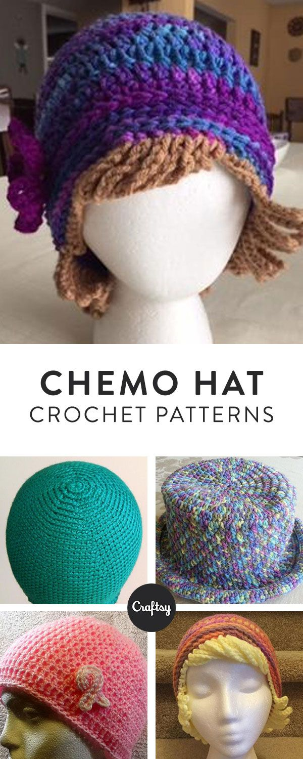 Chemo Hat Crochet Pattern Loom Knitting Crochet Hats Crochet