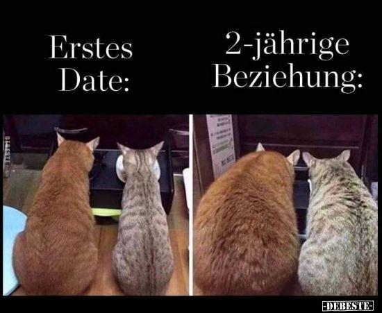 Erstes Date vs. 2-jährige Beziehung. | Lustige Bilder, Sprüche, Witze, echt lustig