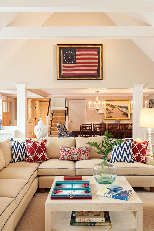 Decorating With Red White And Blue Farmhouse Living