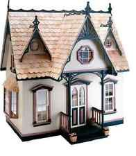 $47 Doll House Victorian Wooden Vintage Girl Gift Dollhouse Rare Kit Baby Story Art