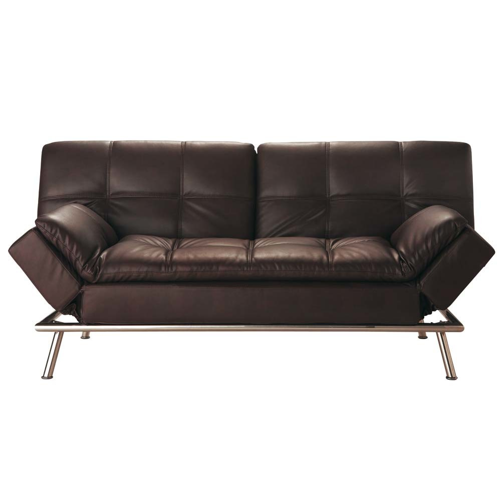 Sofa Clic Clac Convertible Capitone 3 Plazas Marron Denver Canape Canape Convertible Canape Marron