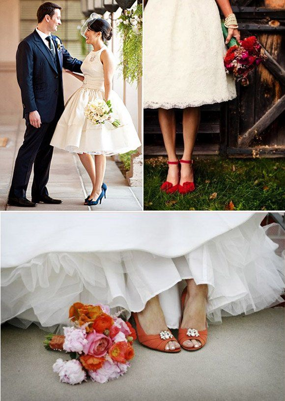 Overall Style Short Dress Pop Of Colour Birdcage Veil Short Wedding Dress Colored Wedding Dresses Wedding Dresses