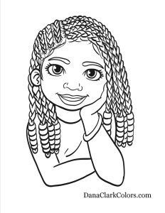 black kids coloring page - Black Coloring Pages
