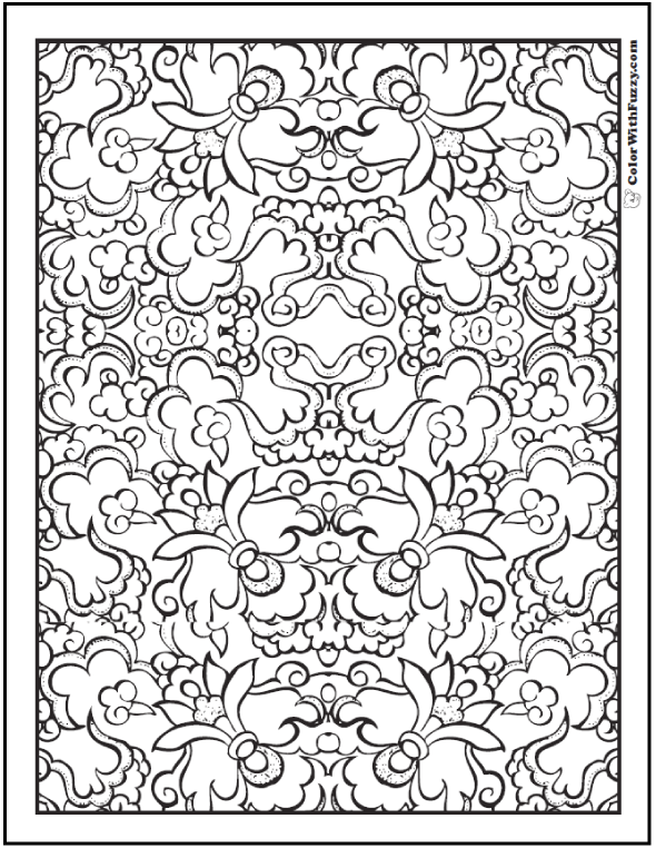 Pattern Coloring Pages Customize Pdf Printables Adult Coloring