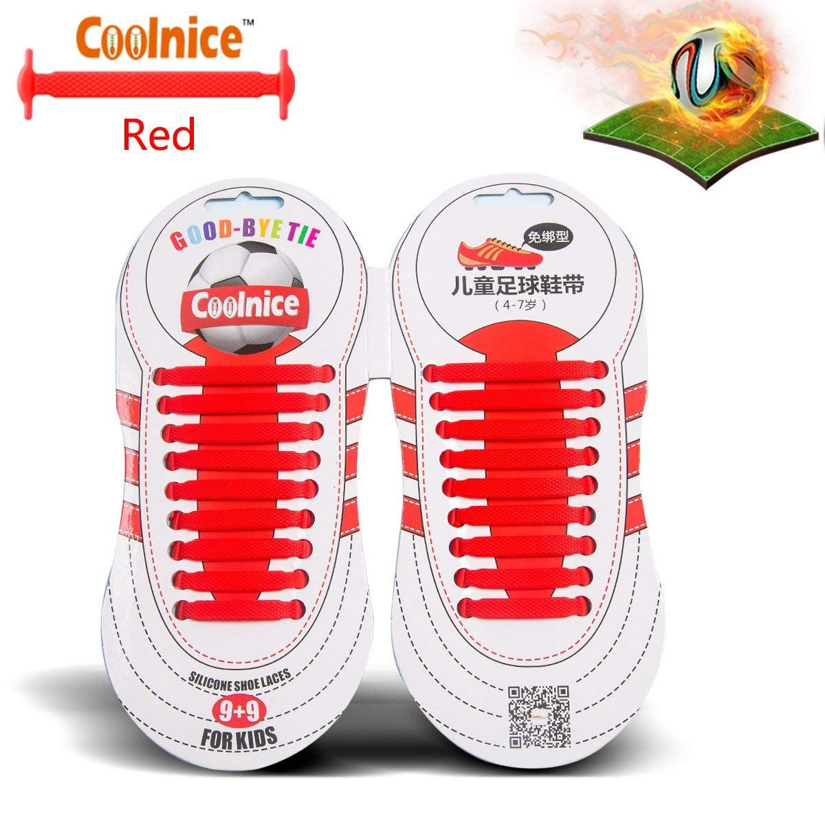 2fc594b68da0e Amazon : No Tie Shoelaces for Kids and Teenagers Outdoor Sports Just ...